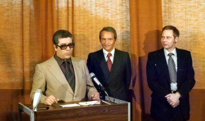 Direktor Allende (ITT Madrid), E.A. Schmelter und Walter Claas