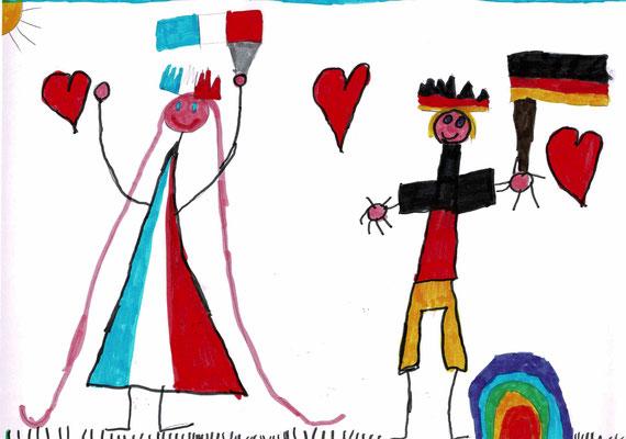 1er prix CP - Bravo Héloïse pour ton dessin très joli et très gai ! (St Léger de Linières - 49)