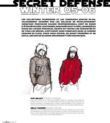 FLUID ski magazine #3 // Série mode Secret Defense