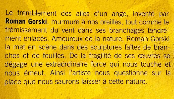 """2008 - """"Nos écritures, les rumeurs du monde"""" Art actuel en Val d'Oise, Saint-Ouen-l'Aumône - Roman Gorski"""