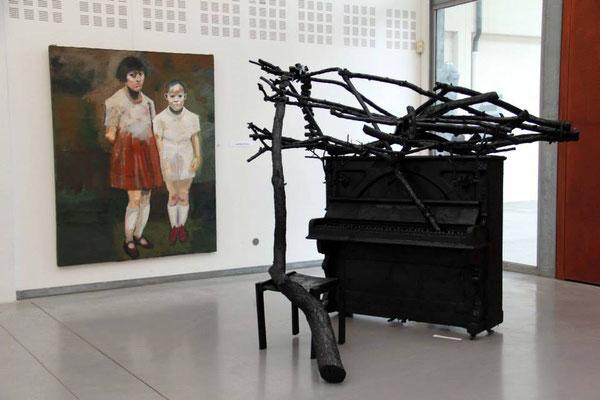 2014 - Eragny-sur-Oise, salle des calandres - Roman Gorski, tableau de Jean-Michel Miralles