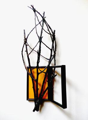 Fenêtre nocturne - Roman Gorski