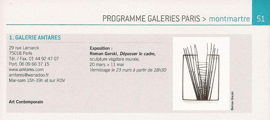 """2012 - """"Dépasser le cadre"""", galerie Amtares, Paris - Roman Gorski"""