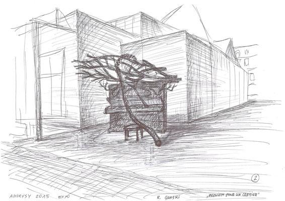 Requiem pour un cerisier, dessin - Roman Gorski