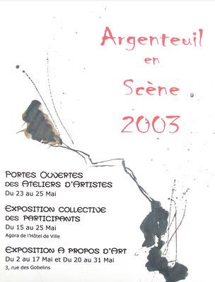 """2003 - """"56 artistes exposent"""" Hôtel de ville, Argenteuil - Roman Gorski"""
