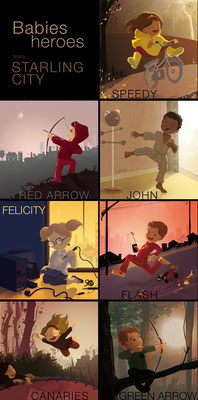 Les héros enfants de la série Arrow - Travail personnel - Illustrator  Selectionné par DC Planet : www.dcplanet.fr/128720-dc-fan-arts-131