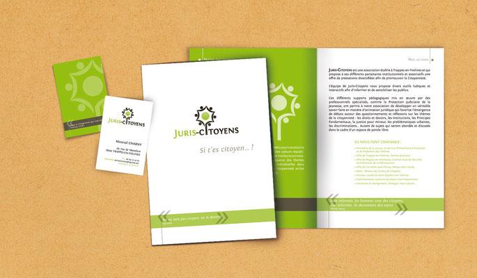 Création de l'identité visuelle - logo - charte - plaquette - JuriCitoyens - Agence Pragma