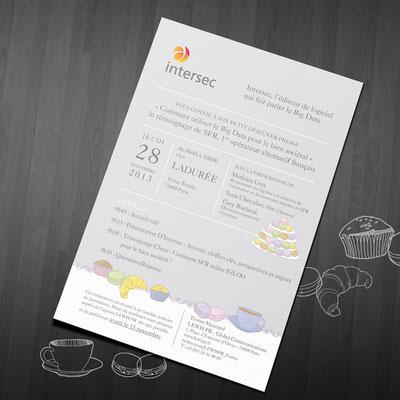 Création graphique et illustration d'une invitation - Intersec