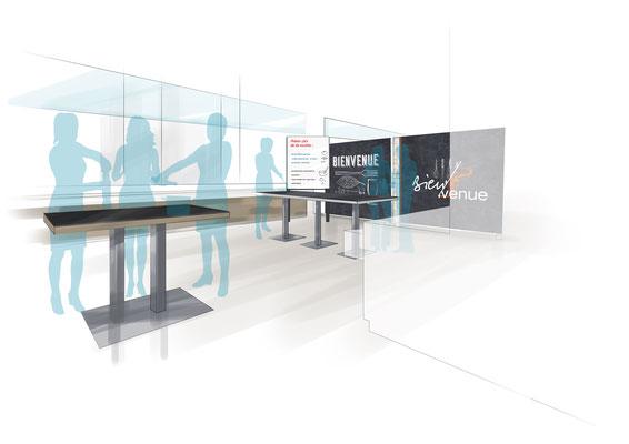 """Aménagement et décoration intérieure - Espace événementiel """"Atelier"""" Direction artistique de l'agence Image Point Com"""