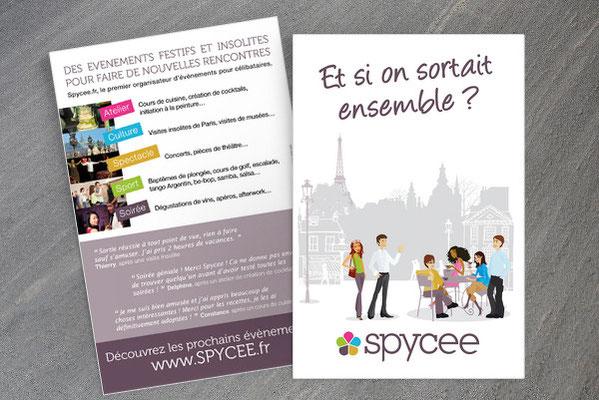 Création de Flyer - Illustration - Agence événementielle Spycee