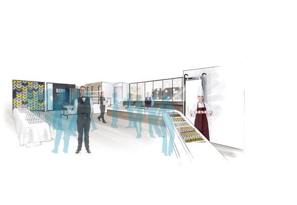 Aménagement et décoration intérieure - Restaurant Direction artistique de l'agence Image Point Com