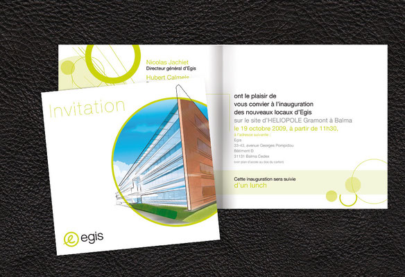Création graphique - illustration - invitation - Egis - Agence Pragma