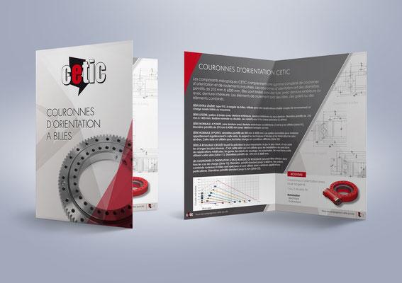 Création d'une plaquette commerciale - Secteur industriel CETIC