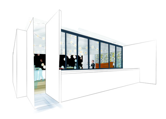 """Aménagement et décoration intérieure - Espace cuisine """"Atelier"""" Direction artistique de l'agence Image Point Com"""