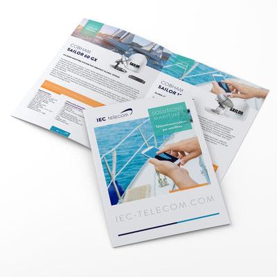 Création d'un brochure produit - 20 pages - IEC telecom Maritime