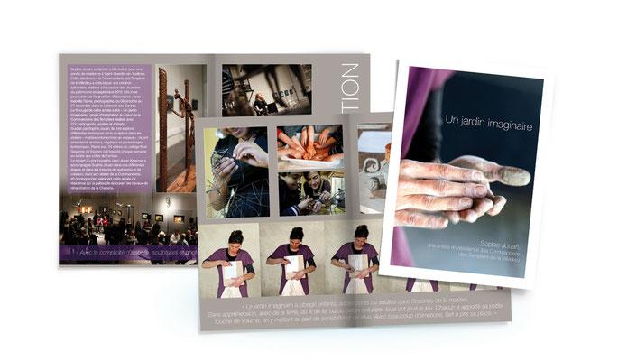 Création d'une brochure présentant le travail d'un artiste en résidence pour l'agglomération de Saint-Quentin-en-Yvelines