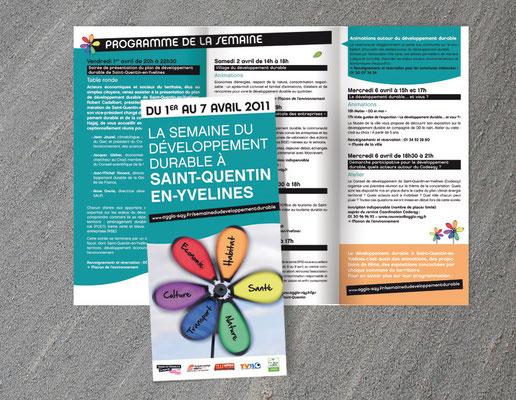 Création du programme de la semaine du dévelopement durable de Saint-Quentin-en-Yvelines - Agence Pragma