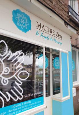 Identité façade - Cabinet massage Maître Zen