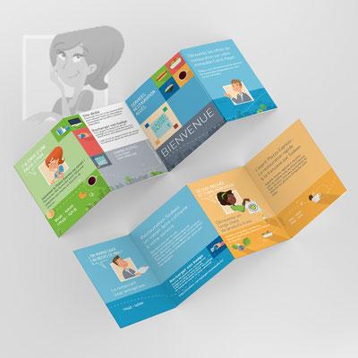 Création graphique - Illustrations Guide bienvenue restaurant Sodexo - Agence Image Point Com