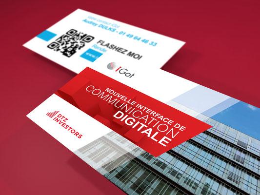 Création graphique et identité visuelle site Igot - DTZ - Agence Image Point Com
