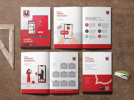 Dossier de Presse et création de l'ensemble de la communication de l'application LawGo