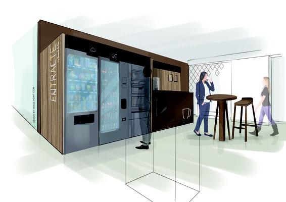 Aménagement, design et roughs - Direction artistique de l'agence Image Point Com pour Snack and Co