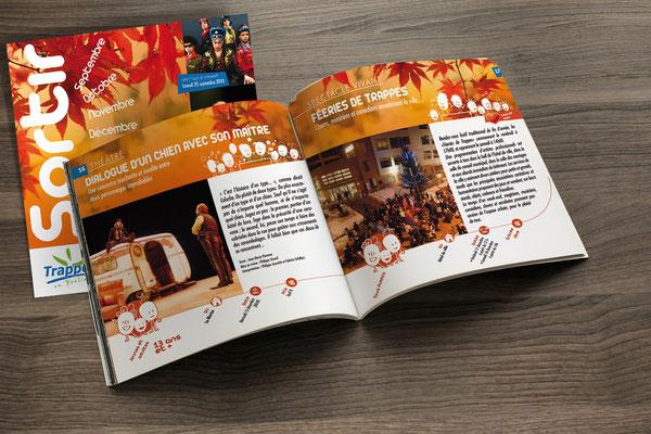 Création de l'identité du programme culturel de la ville de Trappes-en-Yvelines - Agence Pragma