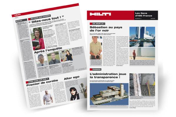 Création de la maquette du journal interne Hilti