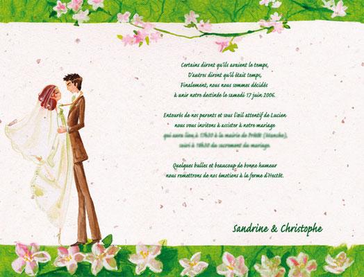 Faire-Part de mariage personnalisé