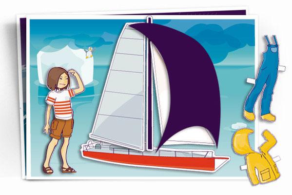 Série complète de la manette pédagogique du Vendée Globe. Client JC Decaux. Direction artistique : JCDecaux