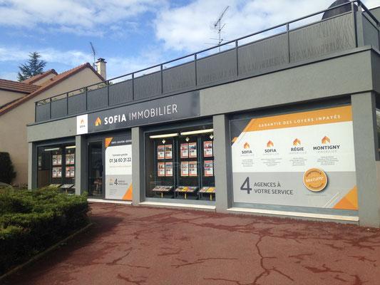 Identité façades et enseignes - Groupe Agence immobilières Sofia