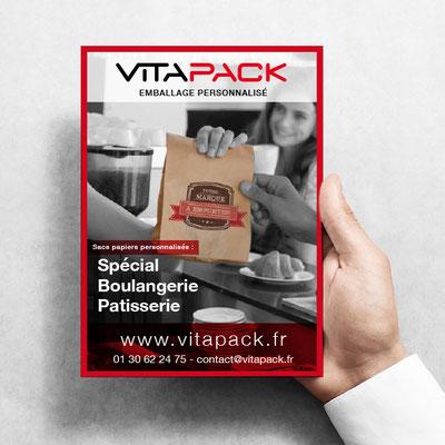 Création graphique de flyers promotionnels - Vitapack