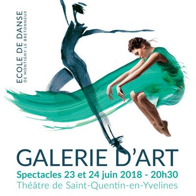 Encre et collage - Campagne spectacle 2018 Danse - Saint-Quentin-en-Yvelines