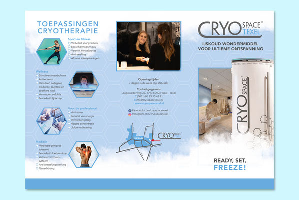 Cryospace Texel folder (buitenzijde)