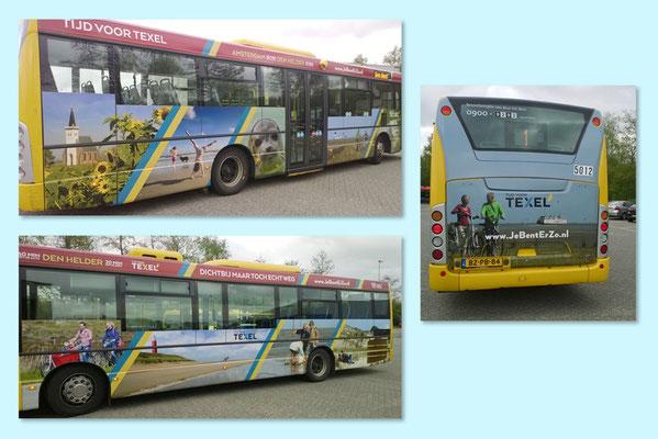 VVV Texel beplakte bus