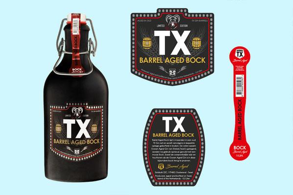 Brouwerij TX - Barrel Aged Bock etiketten