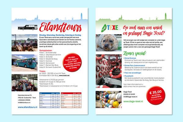 Eilandtours flyers