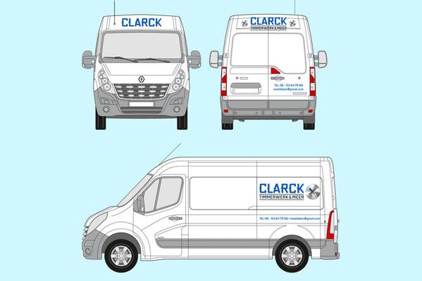 Clarck Timmerwerk en Meer bus