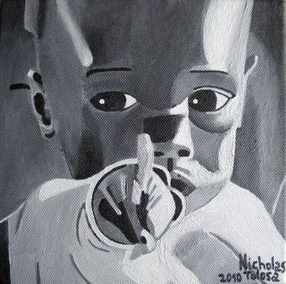 Gli occhi dell' Africa - acrilico su tela - 20 x 20 cm - 2010 - disponibile