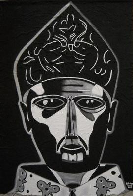 Il re di Napoli - idropittura su filtro - 205 x 299 cm - 2012 - disponibile