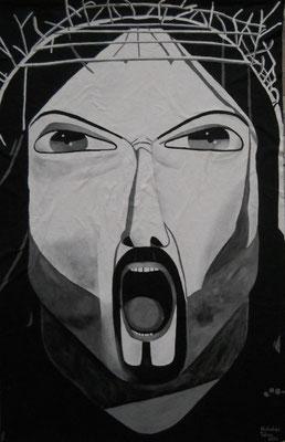 L' urlo della pace - idropittura su filtro - 207 x 298 cm - 2013 - disponibile