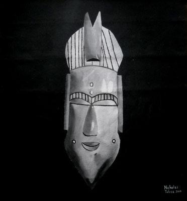 Hasani - idropittura su juta - 108 x 123 cm - 2017 - disponibile