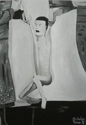 Infanzia - acrilico su tela - 35 x 50 cm - 2018 - disponibile