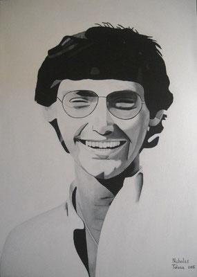 Giancarlo Siani - acrilico su tela - 50 x 70 cm - 2015 - disponibile