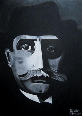 Teofilo Patini - mista su tela - 50 x 70 cm - 2017 - disponibile