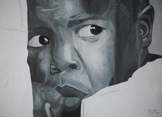 Mamma Africa - acrilico su tela - 70 x 50 cm - 2017 - disponibile