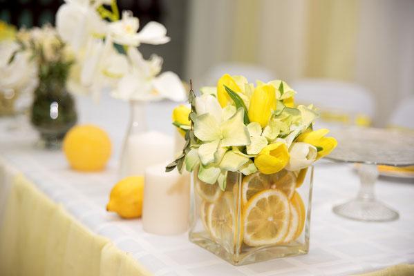 Nous vous proposons des compositions ludiques et originales pour des mariages aux couleurs peps.