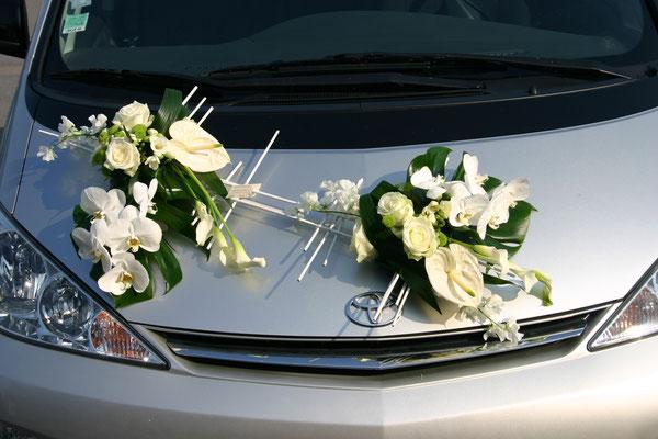 D coration de voiture creazoom evenement for Decoration 2cv mariage