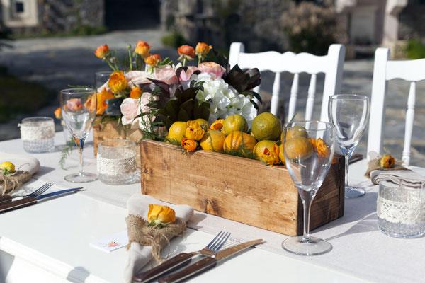 Idée de réalisation pour vos centres de table champêtre, nature ou vintage ...