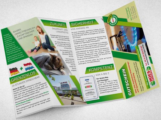 8-seitiger Folder des niederländischen Gaslieferanten Hoes Errogas